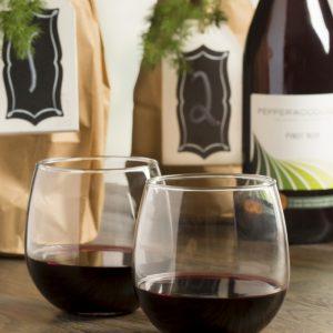 12 כוסות יין ללא רגל מעוגלות