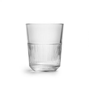 12 כוסות ראיו נמוכות נערמות