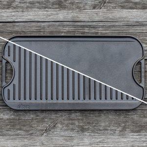 פלטת צלייה דו צדדית מברזל יצוק 50 ס''מ Lodge